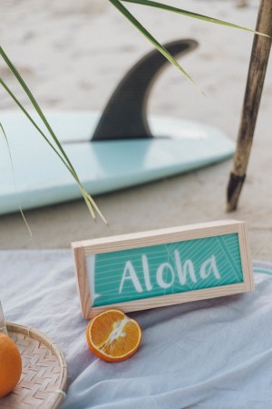 "Mini Lightbox ""Aloha"" lagon"