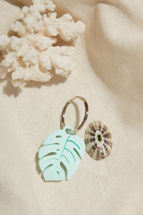 "Porte clef ""Monstera"""