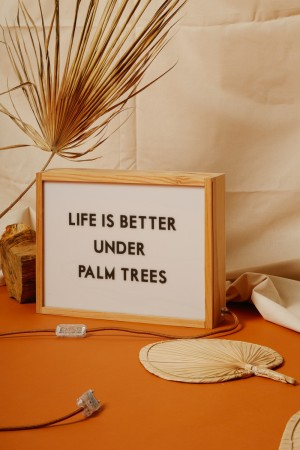 "Lampe ""LIFE IS BETTER UNDER PALM TREES"""