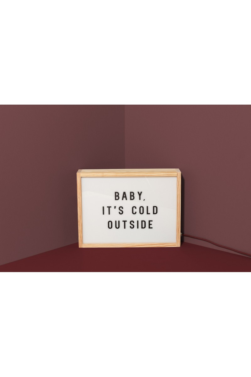 """Lampe """"Baby it's cold outside"""""""