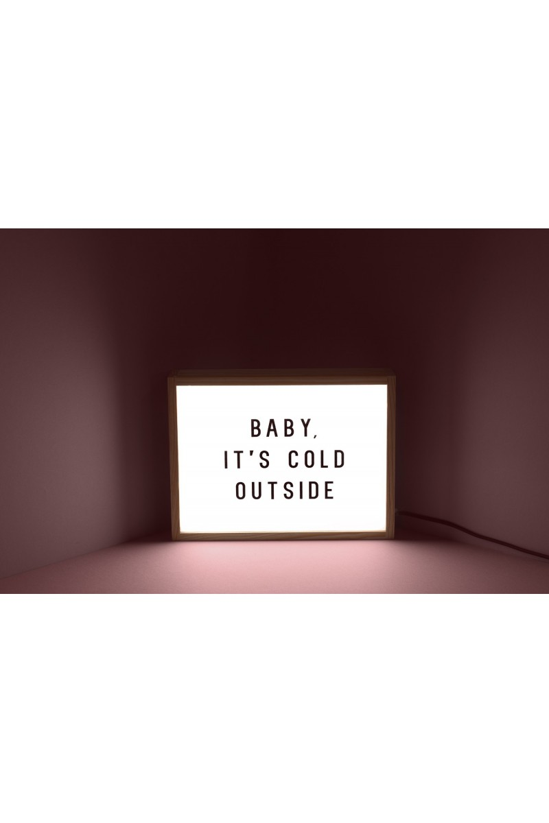 "Lampe ""Baby it's cold outside"""