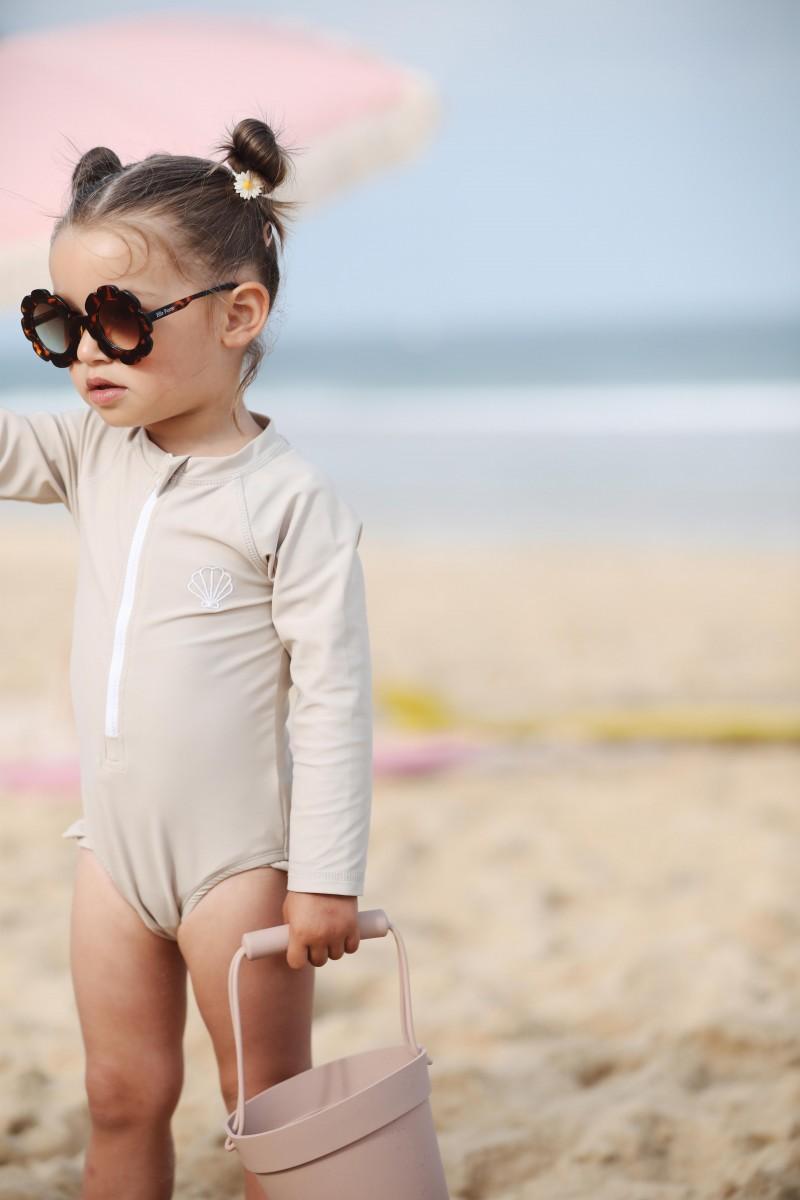 swimsuit girl beige